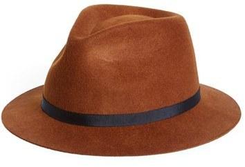 ... Topman Brown Short Brim Wool Hat ... 2b213133d87