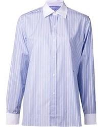 Vertical Striped Dress Shirt