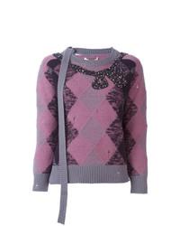Marc Jacobs Embellished Argyle Jumper