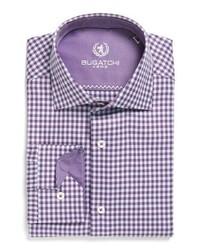 Violet Check Dress Shirt