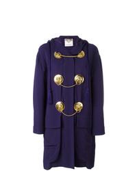 Moschino Vintage Medal Embellished Coat