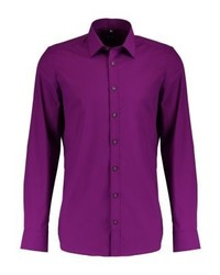 Olymp Body Fit Italian Formal Shirt Kirschrot