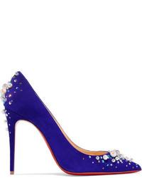 Candidate 100 embellished suede pumps purple medium 954063