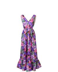 MSGM Floral Print Long Length Dress