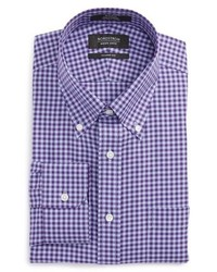 Violet Gingham Dress Shirt