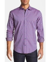Violet Gingham Long Sleeve Shirt