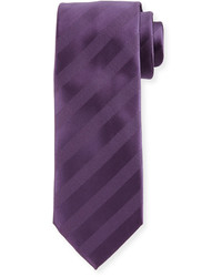 Violet Horizontal Striped Tie