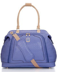 Violet Leather Tote Bag