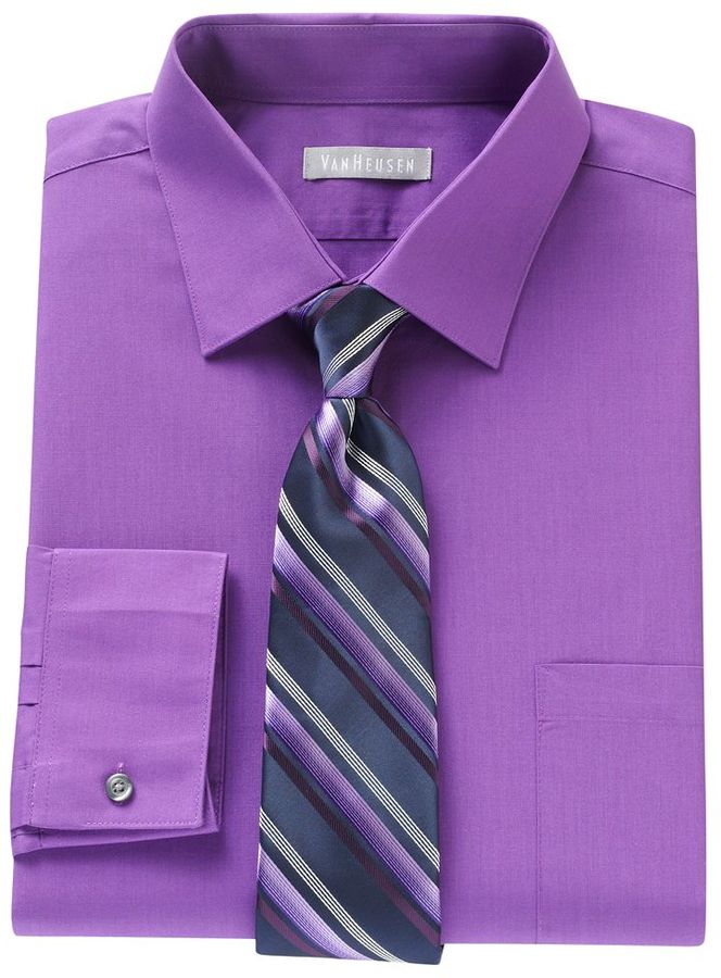 Purple Formal Shirt With Tie Images