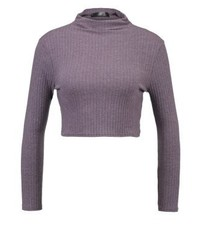Missguided Long Sleeved Top Purple