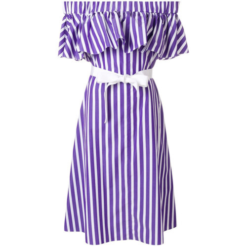 1488973f3865 ... Violet Off Shoulder Dresses Maison Rabih Kayrouz Off The Shoulder  Striped Dress ...