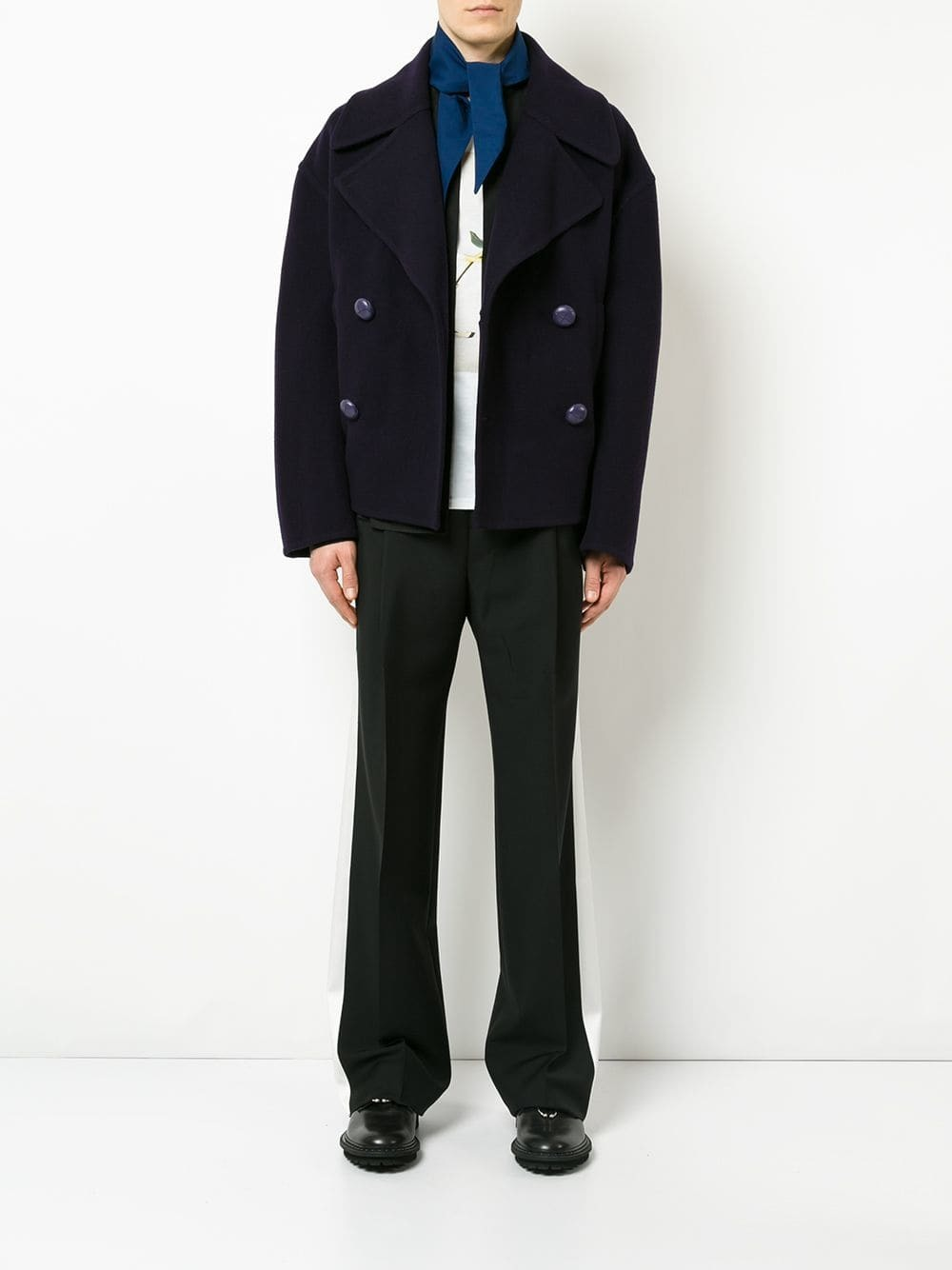 wholesale outlet new york outlet online £856, JW Anderson Oversized Cropped Peacoat