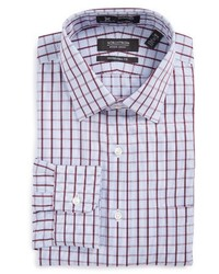 Violet Plaid Dress Shirt
