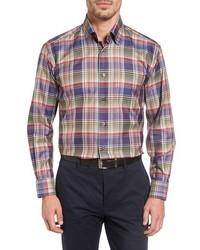 Anderson classic fit plaid sport shirt medium 816078