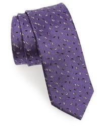 Lanvin Print Silk Skinny Tie