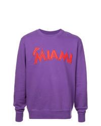 Violet Print Sweatshirt