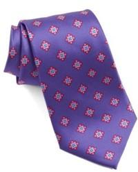 Violet Print Tie