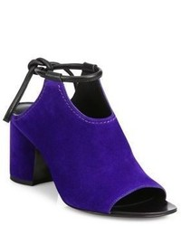 Violet Suede Mules