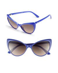 Tom Ford Anastasia 55mm Retro Sunglasses Violet One Size