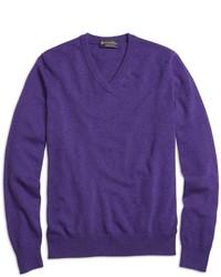 Violet V-neck Sweater