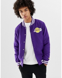 New Era Nba La Lakers Jacket In Purple