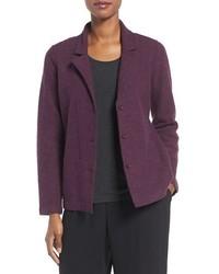 Eileen Fisher Notch Collar Merino Wool Jacket