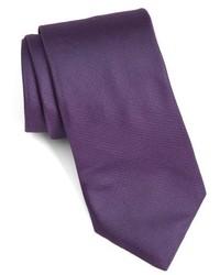 London solid woven silk tie medium 962869