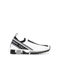 Dolce & Gabbana Black And White Neoprene Sneakers