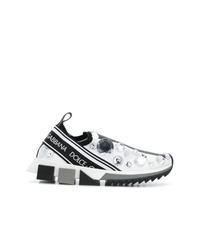Dolce & Gabbana Crystal Embellished Logo Sneakers