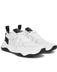 Berluti Leather Trimmed Mesh Sneakers
