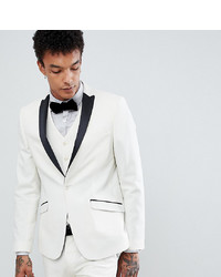 Heart & Dagger Tuxedo Skinny Suit Jacket In Satin