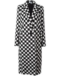 Courrges checked long coat medium 6469607