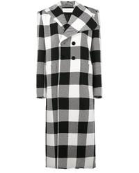 Marquesalmeida check print double breasted coat medium 6469609