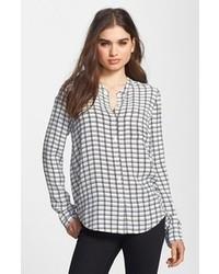 White and Black Check Dress Shirt