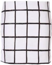 Piece D Anarchive Mini Checked Skirt