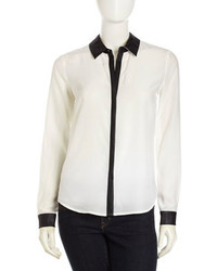 White and Black Dress Shirt