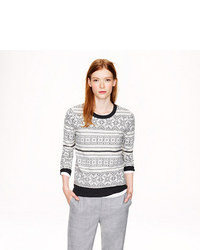 J.Crew Ivory Fair Isle Sweater