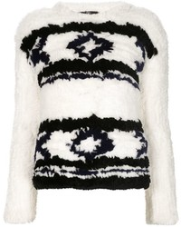 Rabbit fur fair isle sweater medium 375397