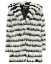 White and Black Fur Coat