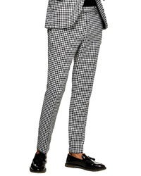 White and Black Gingham Chinos