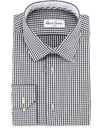 White and Black Gingham Dress Shirt