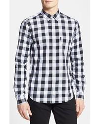 Burberry Brit Fred Gingham Sport Shirt Black Medium