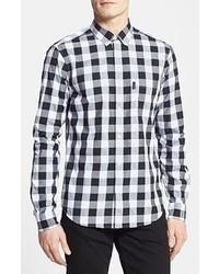 Burberry Brit Fred Gingham Sport Shirt Black X Large