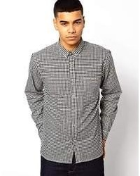 Solid Gingham Flannel Shirt
