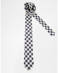 Brand tie with gingham check medium 200747