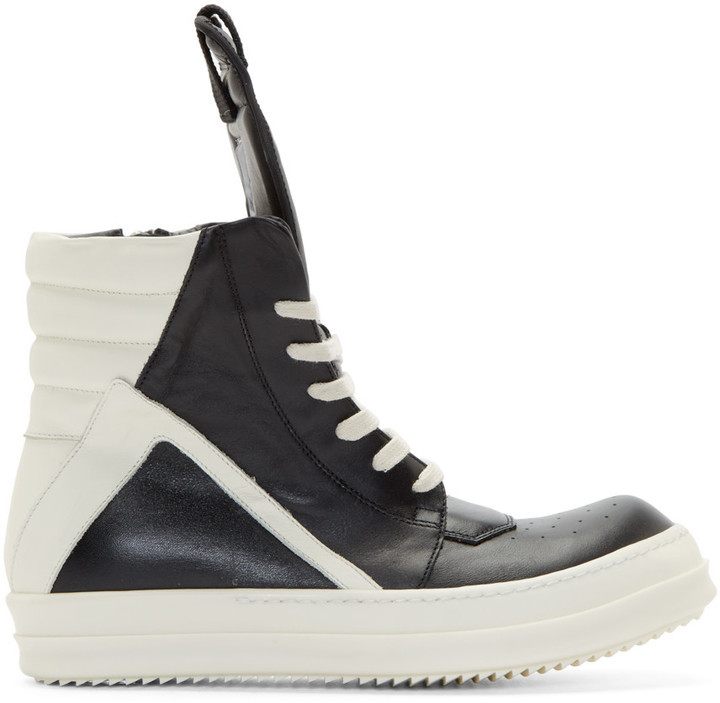 Rick Owens Black Cargobasket High-Top Sneakers Pas Cher Professionnel mQYHgXwE