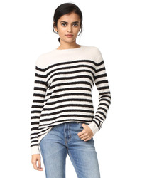 Engineered striped pullover medium 1159144