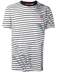 McQ Alexander Ueen Striped Swallow T Shirt