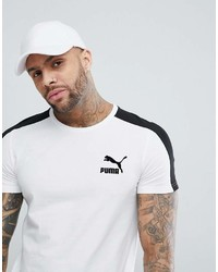 Puma Archive T7 Stripe T Shirt In White 57501502