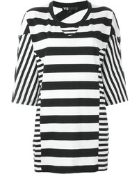 Contrast stripe oversized t shirt medium 1159344